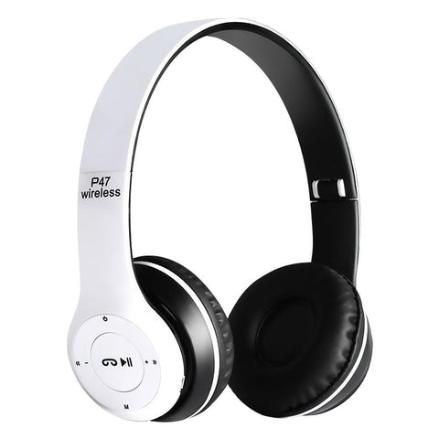 P47 Wireless Bluetooth Stereo Headphone 3.5mm Audio Jack Handsfree Headset