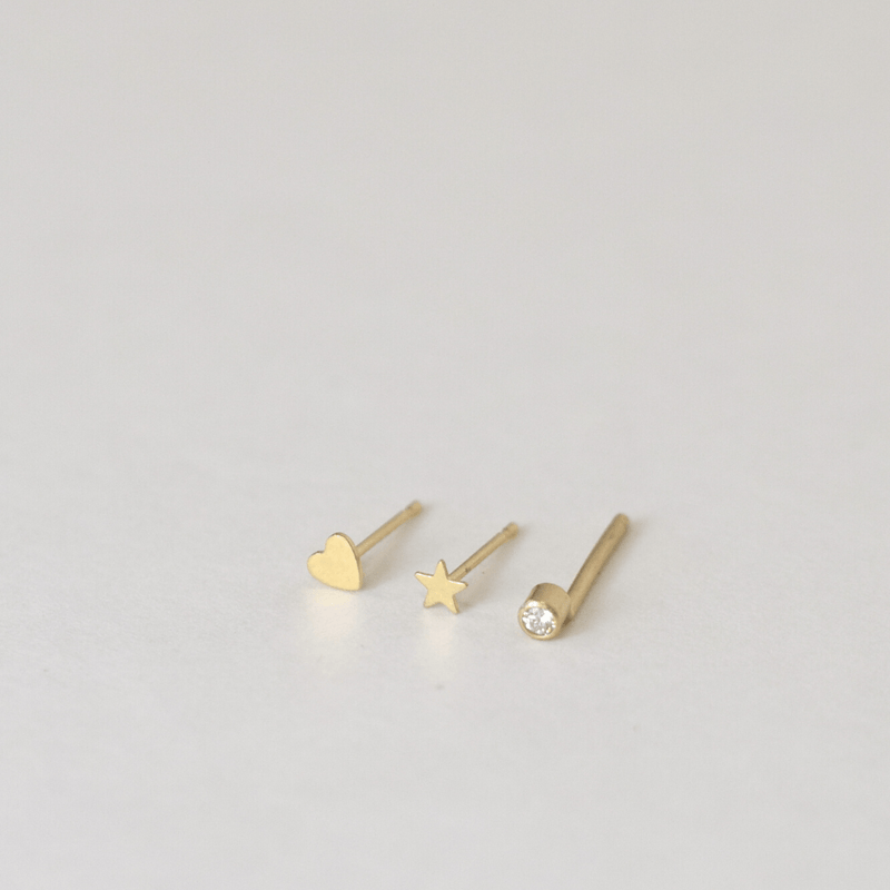 OXB Studio Earrings 14k Stud Pack