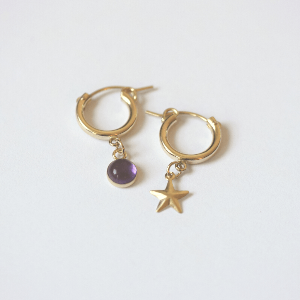 OXB Studio Earrings Space Jam Hoops