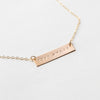 "OXBStudio Necklace Gold Filled / Cable Chain / 16"" Love > Fear"