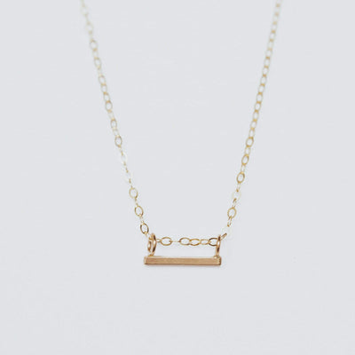 "OXBStudio Necklace Gold Filled / Cable Chain / 16"" Short Milestone Necklace"