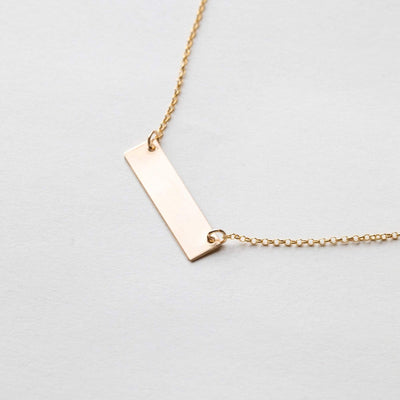 "OXBStudio Necklace Gold Filled / Rolo Chain / 16"" Sweat Life Bar"