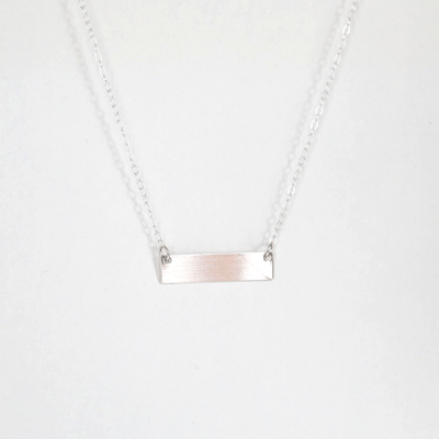 "OXBStudio Necklace Sterling Silver / Cable Chain / 16"" Love > Fear"