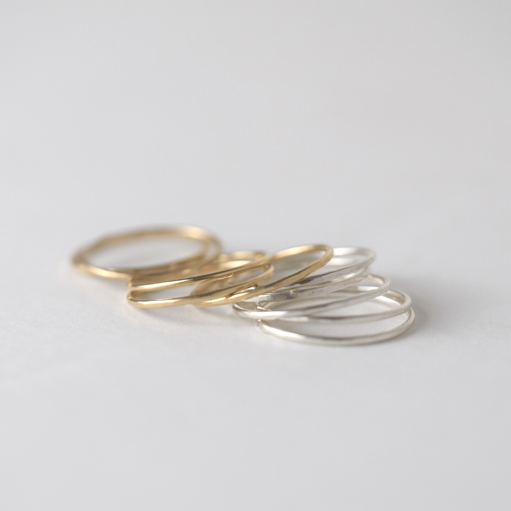 OXBStudio Rings Stack Ring, Bundle of 5