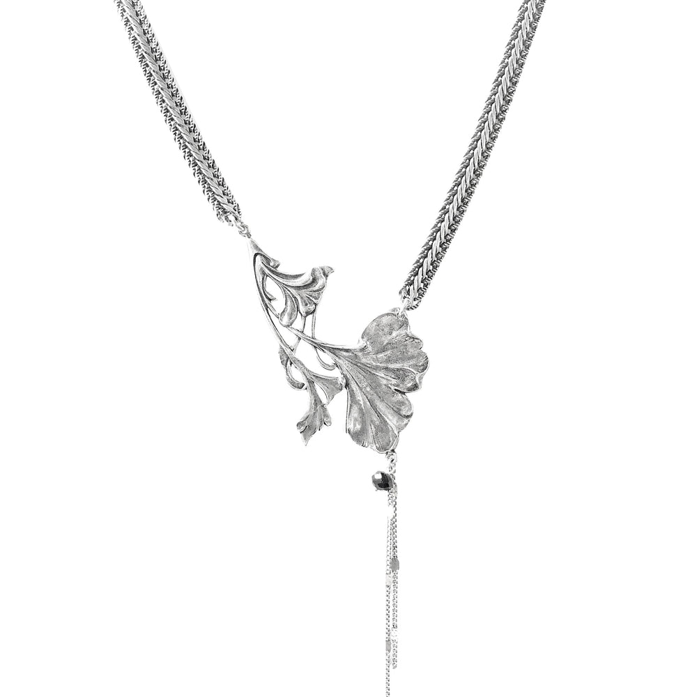 COLLIER GINGKO GIN ARGENT