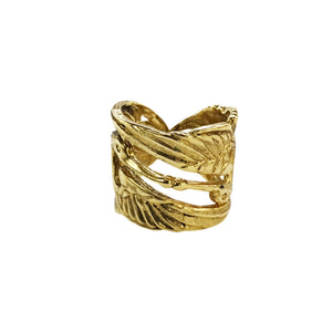 BAGUE KISS BIRD DOREE