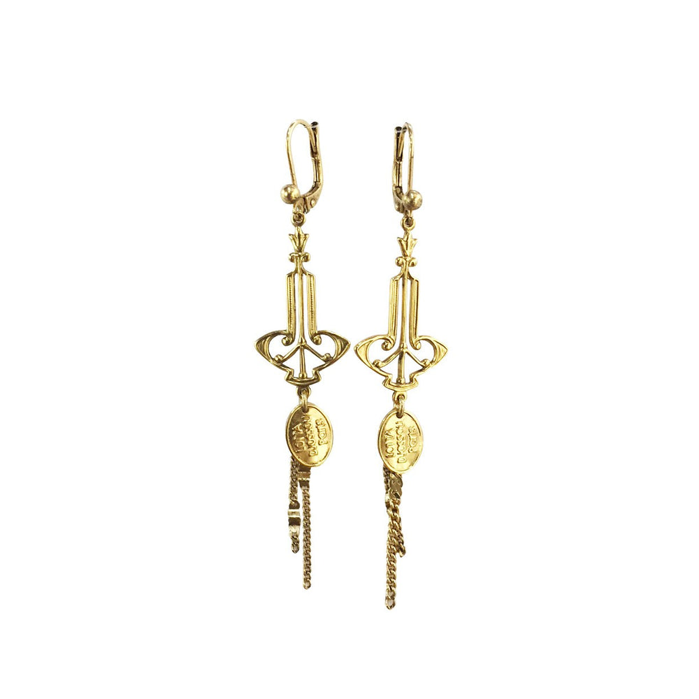 BoUCLES D'OREILLES LITTLE BAROQUE DOREE