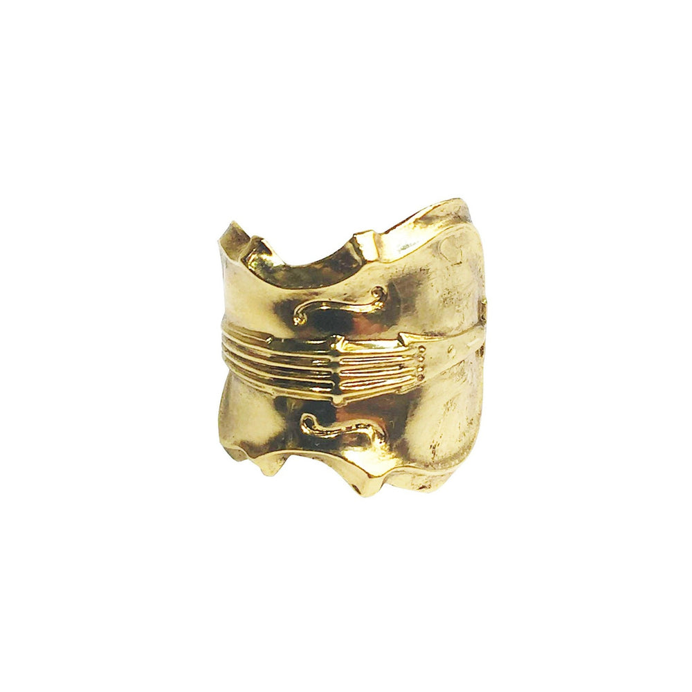BAGUE VIOLON DOREE