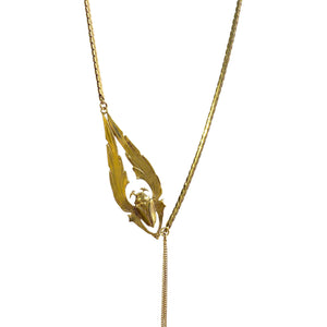 COLLIER SCARABEE DORE