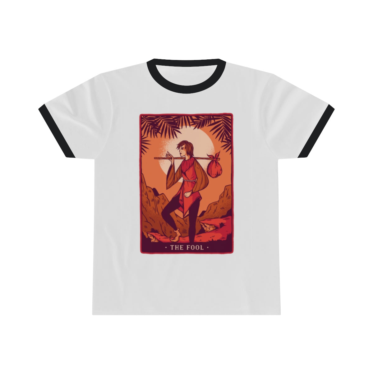 The Fool Tarot Ringer Tee