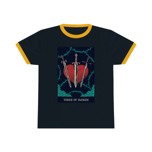 Three of Swords Ringer Tee