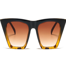 Load image into Gallery viewer, Angular Cat Eye Sunglasses (Black/Leopard)