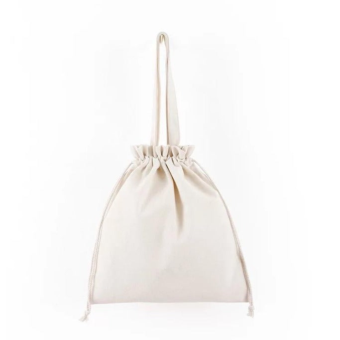 Drawstring Beach Bag (White)