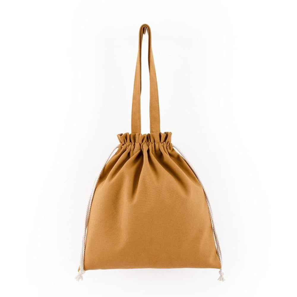 Drawstring Beach Bag (Brown)