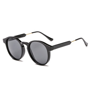 Vintage Round Sunglasses (Black)