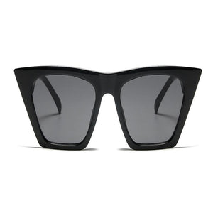 Angular Cat Eye Sunglasses (Black)
