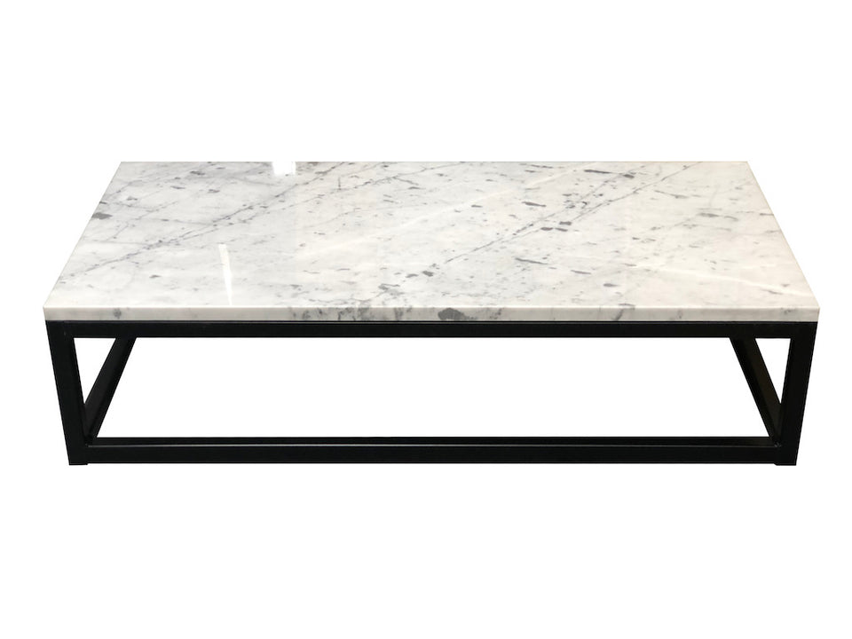Marble-Metal Carrara Marble Coffee Table