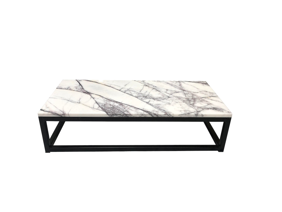 Marble-Metal Milas Lilac Coffee Table