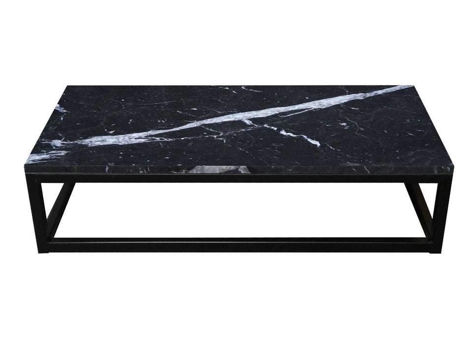Marble-Metal Nero Marquis Coffee Table