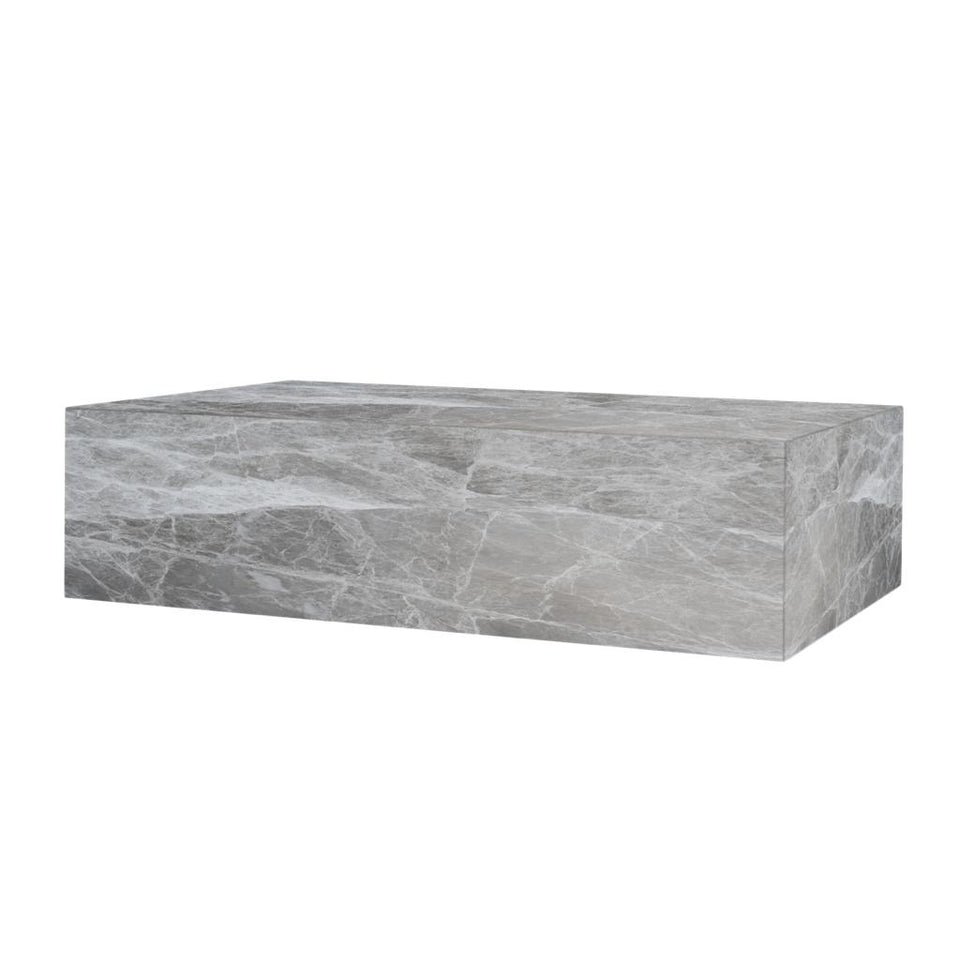 Marble Grey Emperador Plinth Coffee Table