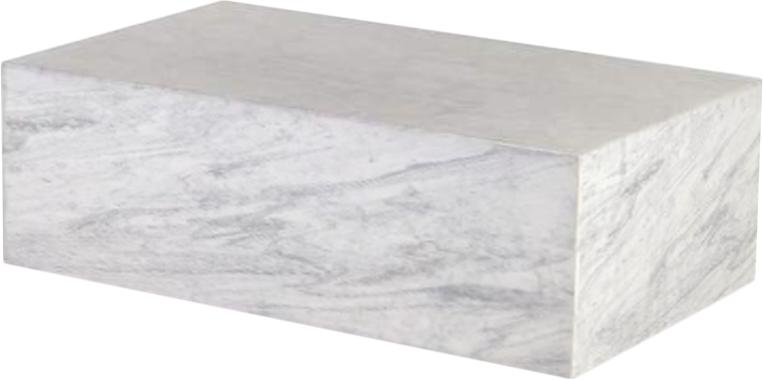 Marble Carrara Plinth Coffee Table