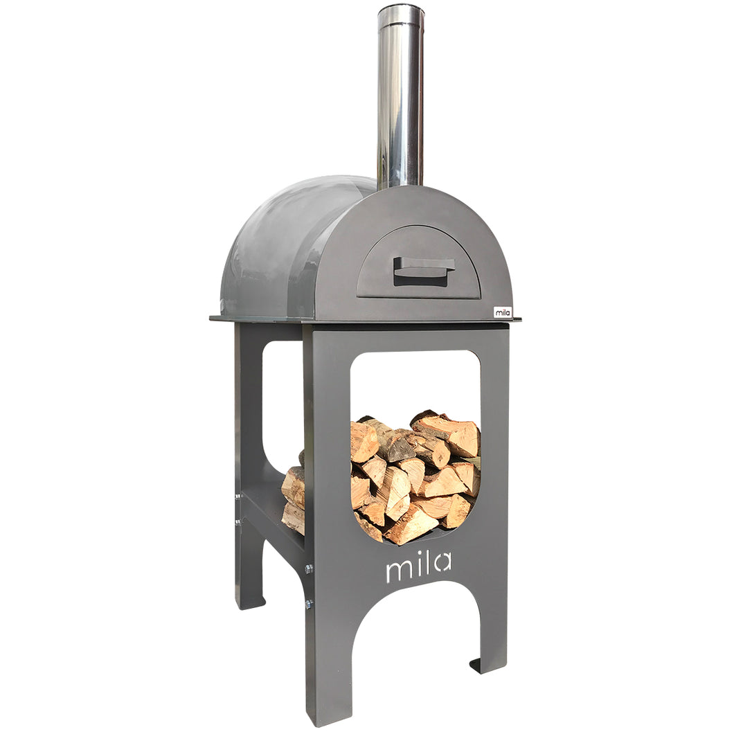 Mila 60 oven -Pre built with light grey shell & stand