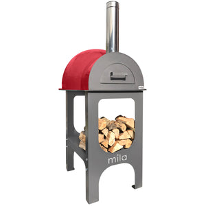 Mila 60 oven - with red shell & stand