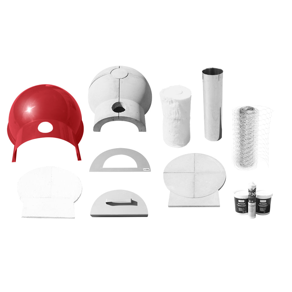 Mila 60 kit - with red shell.