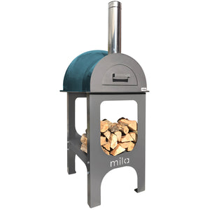 Mila 60 oven - with teal shell & stand