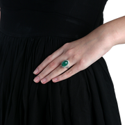 Emerald Cabochon Ring