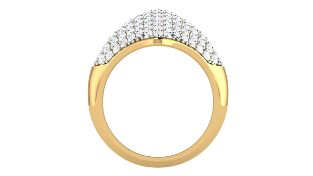 Quadrant diamond ring