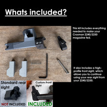 Load image into Gallery viewer, GRAVmag 5P Magazine For Crosman 2240 2250 Ratcatcher Plastic Breech IRON SIGHT EDITION