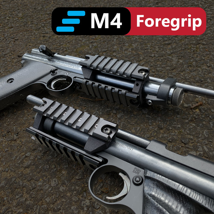 M4 Tri-Rail Foregrip for Crosman 2240, 2250, Ratcatcher Steel and Plastic Breech