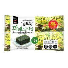 Haio Premium Roasted Seaweed Green Laver 16 pack