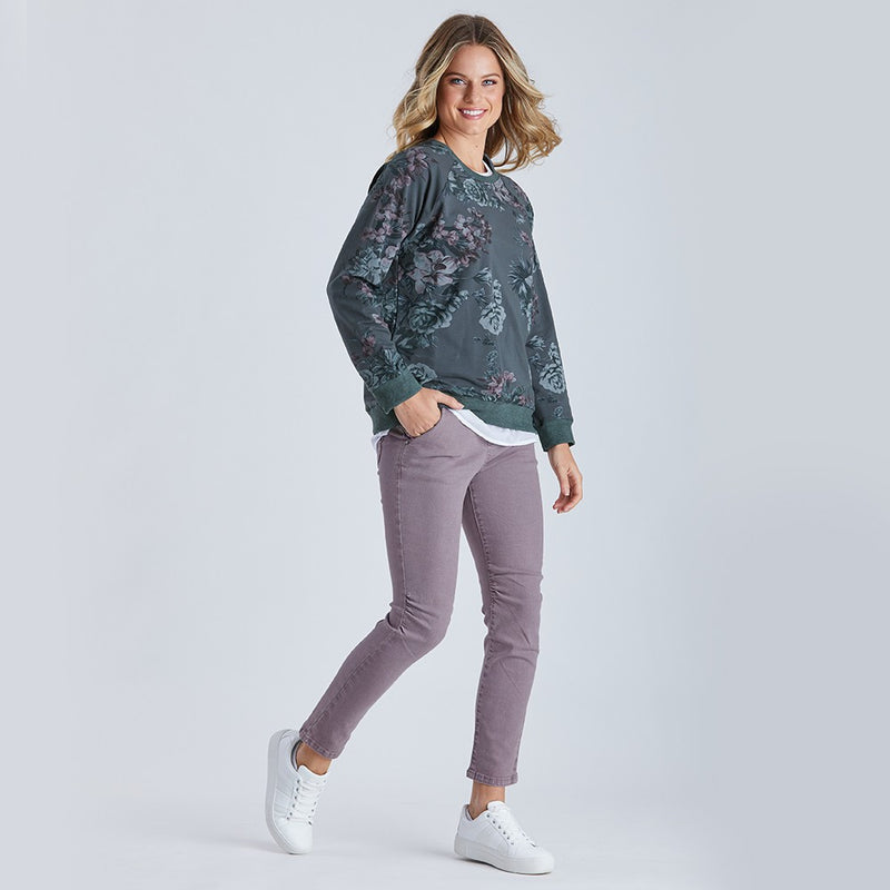 Threadz Floral Print Sweat