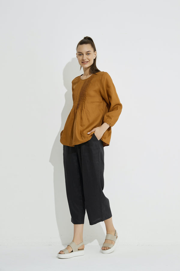 Tirelli Pin Tuck Blouse