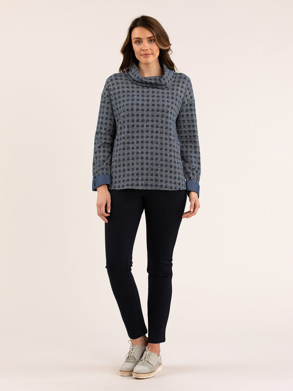 YT20W7051 Yarra Trail Textured Roll Neck Top