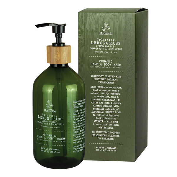 Urban Rituelle Lemongrass, Lemon Myrtle, Grapefruit & Eucalyptus Organic Hand & Body Wash