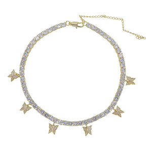 Tennis Chain Choker Necklace