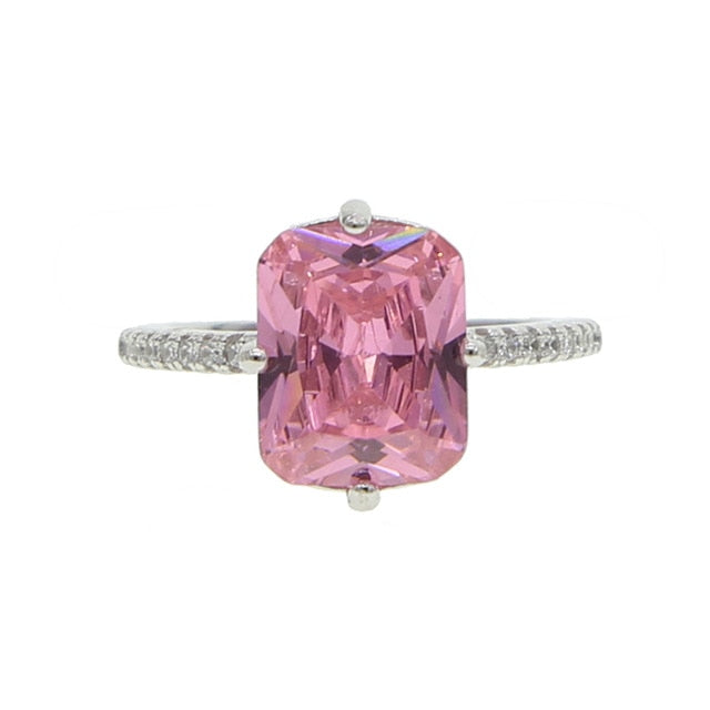 Icy Small Pink Ring