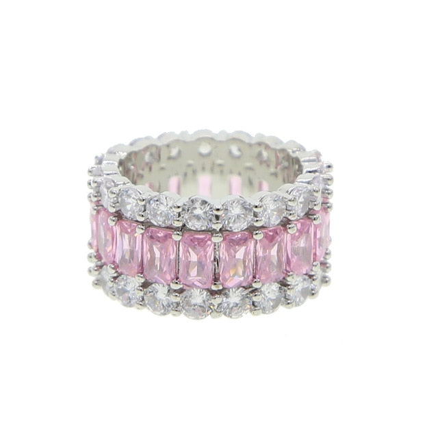 Pink Baguette Eternity Band