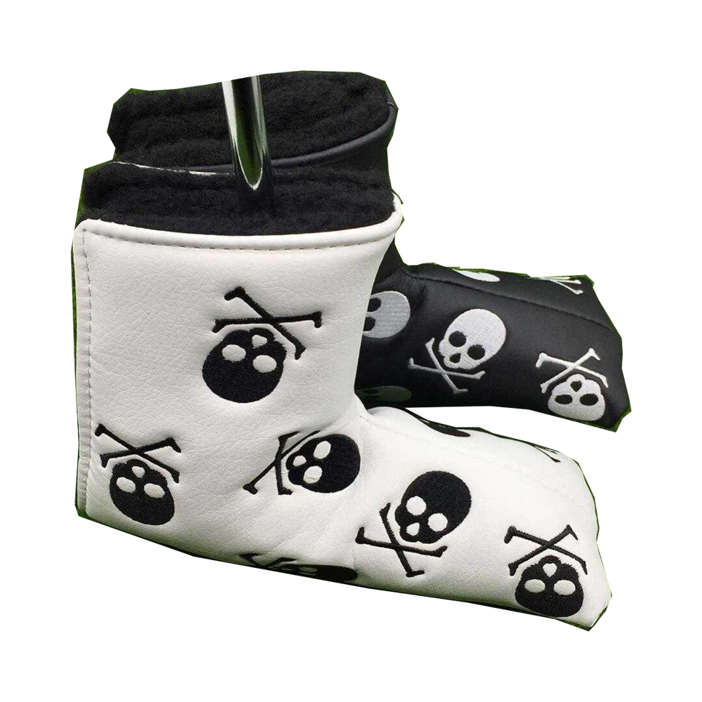 Putter PU Leather Skull Club Headcover