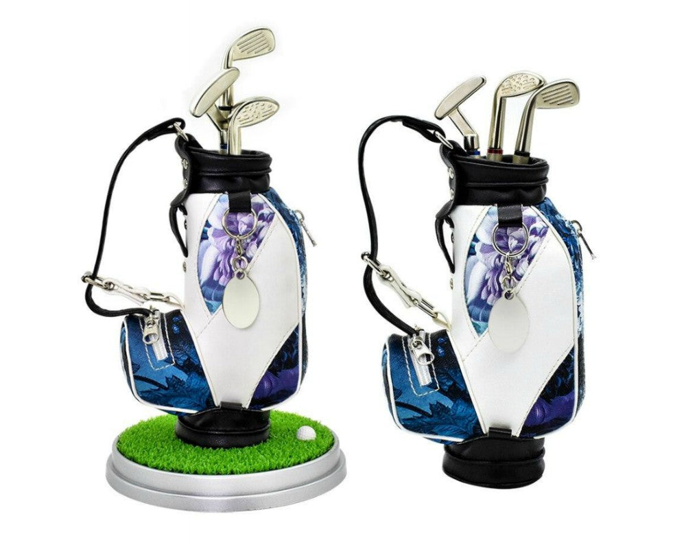 Unique Violet Flower Golf Bag Pens Holder