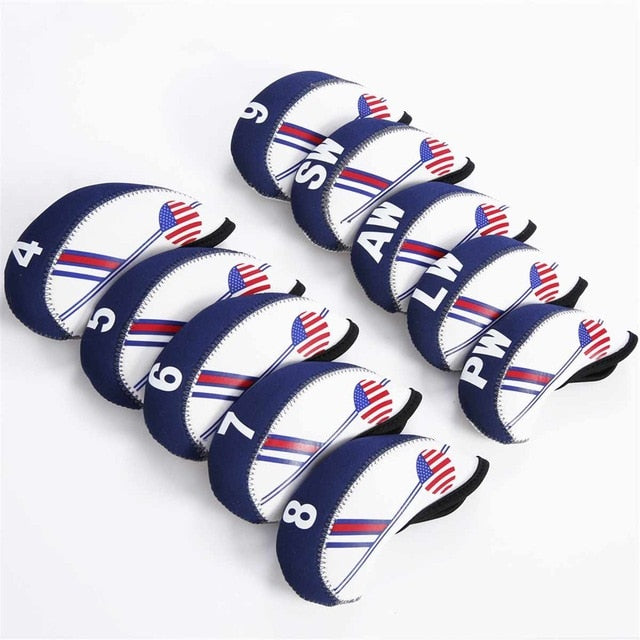 10Pcs/set Golf Club Iron Head Cover
