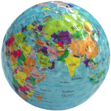 3 pcs/lot Globe Map Color Golf Balls