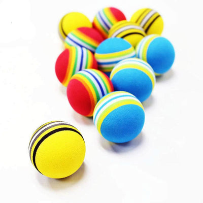 12Pcs Colorful Rainbow EVA Foam Golf Balls