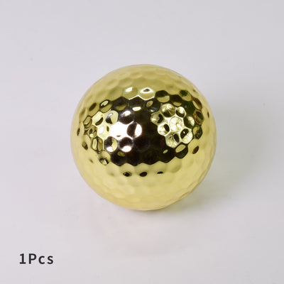 Unique Silver Gold Golf Balls