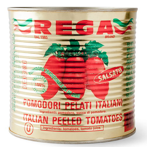 2.5kg Rega Italian Peeled Tomatoes Gold Tin