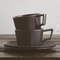 Kinto Oct Cup & Saucer 8oz Black