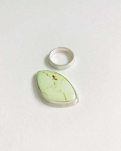 Abstract Lemon Chrysophrase Statement Ring